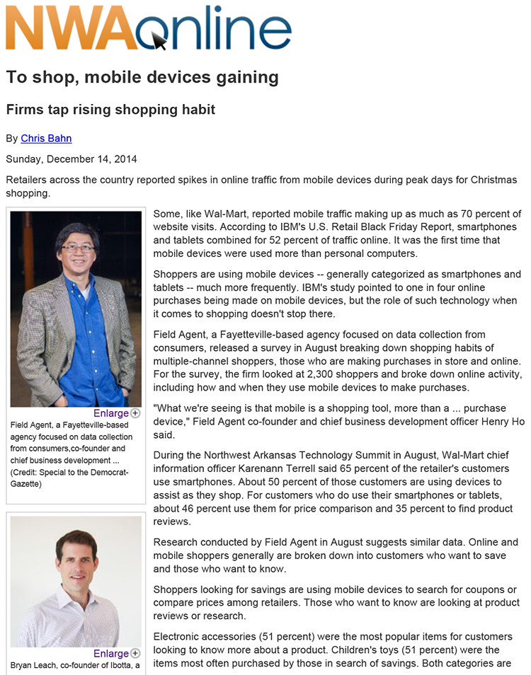 To shop, mobile devices gaining