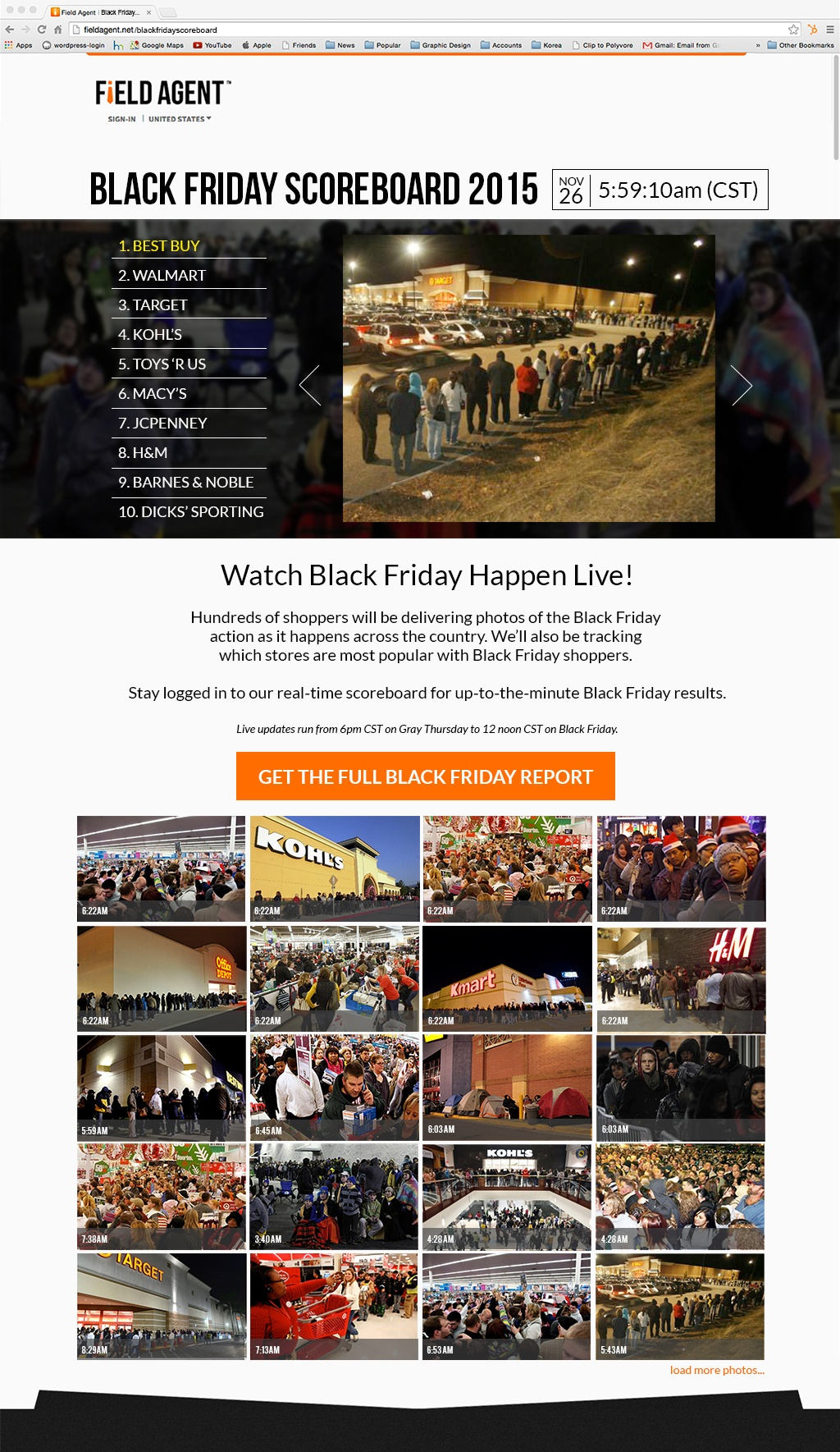 Field Agent Mobile Audits and Mobile Market Research - Black Friday Holiday Retail 2015