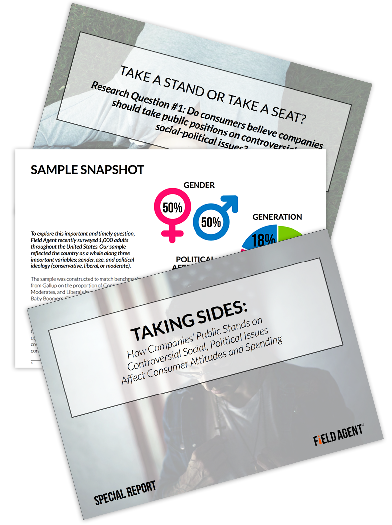 Taking Sides: How Companies' Public Stands on Controversial Social, Political Issues Affect Consumer Attitudes and Spending Report Download | Field Agent