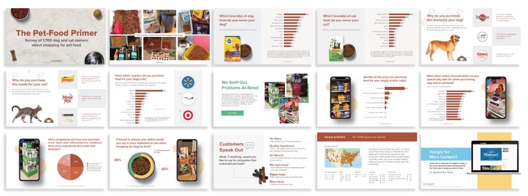 Pet Food Report Mockup