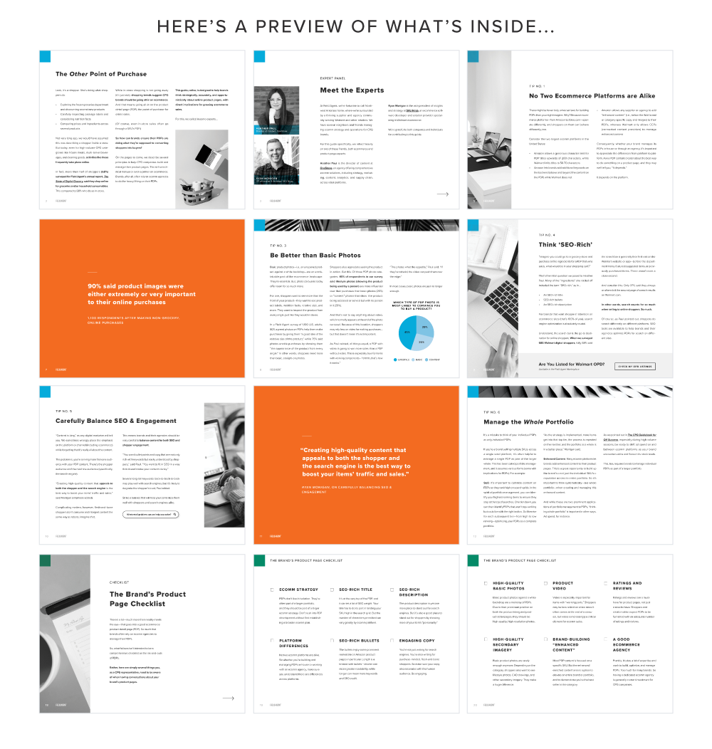 Field Agent eBook - 10 Tips on How to Build Ecommerce Product Pages that Win Sales - Pages Preview