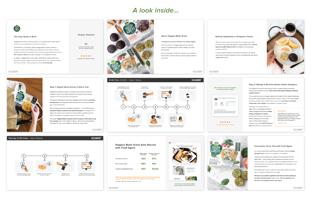 Veggies Made Great Case Study Pages Preview